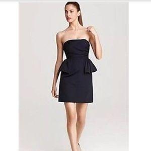 MARC JACOBS Marfa Faille Strapless Peplum Dress